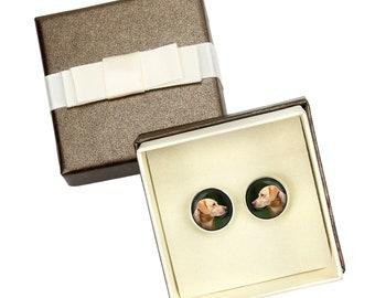 Labrador Retriever. Cufflinks with box for dog lovers. Photo jewellery. Men's jewellery. Handmade