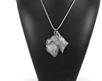 NEW, Schnauzer, dog necklace, silver cord 925, limited edition, ArtDog