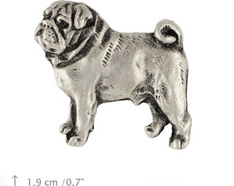 Pug, dog pin, limited edition, ArtDog