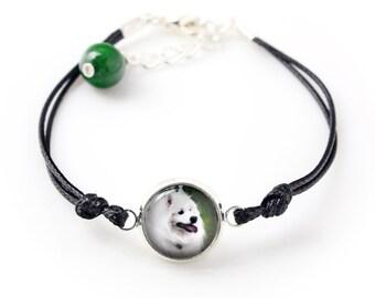 Samoyed. Bracelet for people who love dogs. Photojewelry. Handmade.