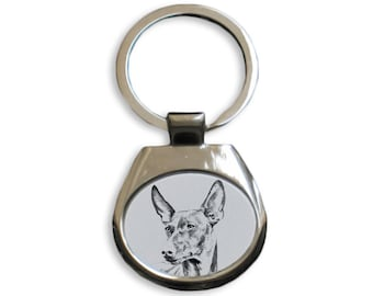 Cirneco dell'Etna - NEW collection of keyrings with images of purebred dogs, unique gift, sublimation . Dog keyring for dog lovers