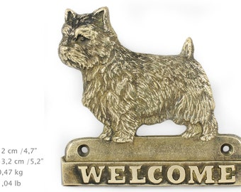 Norwich Terrier, dog welcome, hanging decoration, limited edition, ArtDog