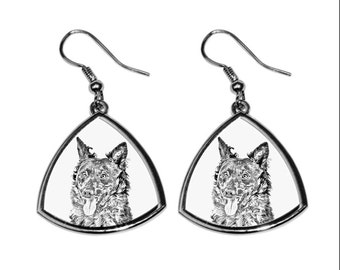 Mudi- NEW collection of earrings with images of purebred dogs, unique gift