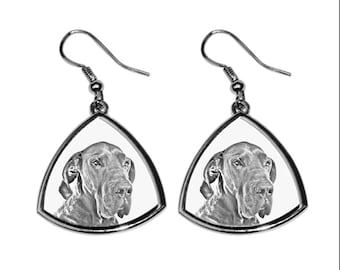 Great Dane - NEW collection of earrings with images of purebred dogs, unique gift