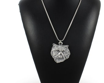 NEW, Persian Cat, cat necklace, silver chain 925, limited edition, ArtDog
