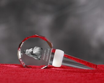 American Warmblood, Crystal Wine Stopper with Horse, Wine and Horse Lovers, High Quality, Exceptional Gift. New Collection