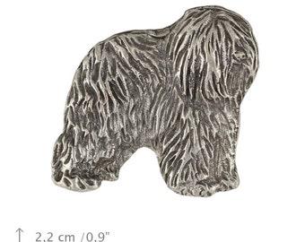 Polish Lowland Sheepdog, dog pin, limited edition, ArtDog