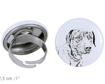 Ring with a dog- Catahoula Cur