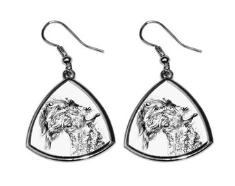 Kerry Blue Terrier - NEW collection of earrings with images of purebred dogs, unique gift