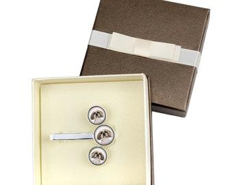Shih Tzu. Jewelry for dog lovers. Cufflinks and tie pin . Photo jewellery. Men's jewellery. Handmade