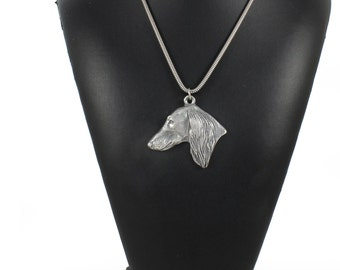 NEW, Saluki, Royal Dog of Egypt and Persian Greyhound, Gazelle Hound, dog necklace, silver cord 925, limited edition, ArtDog