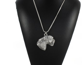 NEW, Cesky Terrier, dog necklace, silver chain 925, limited edition, ArtDog