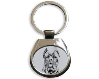 Cane Corso - NEW collection of keyrings with images of purebred dogs, unique gift, sublimation . Dog keyring for dog lovers
