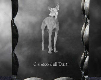 Cirneco dell'Etna , Cubic crystal with dog, souvenir, decoration, limited edition, Collection