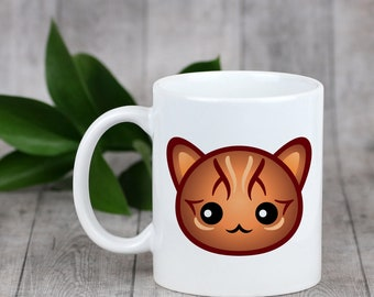 Enjoying a cup with my cat Bengal - a mug with a cute cat