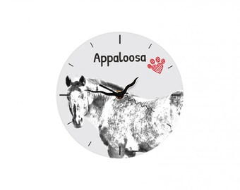 Appaloosa, Free standing MDF floor clock with an image of a horse.