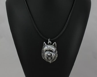 Cairn Terrier (muzzle), dog necklace, limited edition, ArtDog