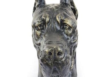 Great Dane, Deutsche Dogge (cropped), dog big head statue, limited edition, ArtDog