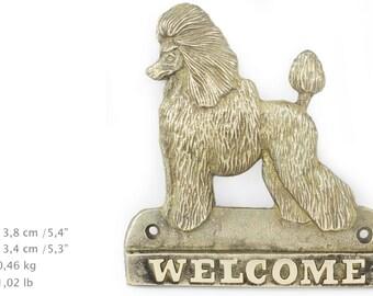 Poodle, dog welcome, hanging decoration, limited edition, ArtDog