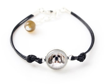 Shih Tzu. Bracelet for people who love dogs. Photojewelry. Handmade.