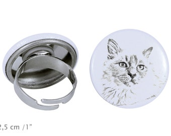 Ring with a cat - Birman