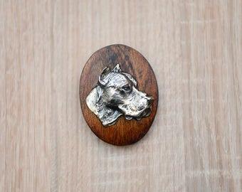 Argentine Dogo, dog clipring, dog show ring clip/number holder, limited edition, ArtDog