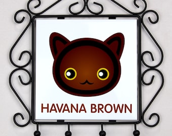 A key rack, hangers with Havana Brown cat. A new collection with the cute Art-dog cat