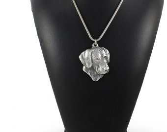 NEW, Rhodesian Ridgeback, African Lion Boy, African Lion Girl, dog necklace, silver cord 925, limited edition, ArtDog