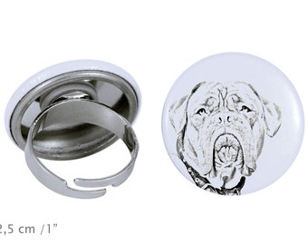 Ring with a dog - French Mastiff