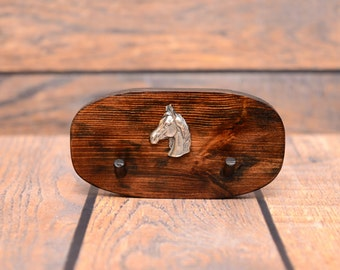 Arabian, Arab horse - Unique wooden hanger with a relief of a purebred horse. Perfect for a collar, harness or leash.