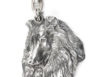 NEW, Rough Collie, dog keyring, key holder, limited edition, ArtDog . Dog keyring for dog lovers