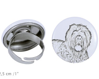 Ring with a dog - Black Russian Terrier