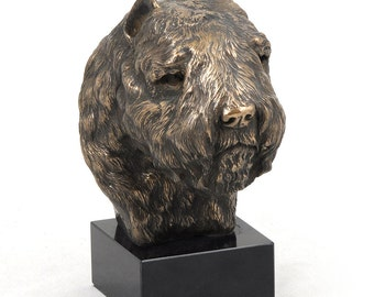 Bouvier des Flandres, dog marble statue, limited edition, ArtDog. Made of cold cast bronze. Solid, perfect gift. Limited edition.
