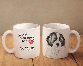 "Tronjak - a mug with a dog. ""Good morning and love..."". High quality ceramic mug. NEW COLLECTION! Dog Lover Gift, Christmas Gift"