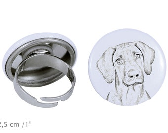 Ring with a dog - Rhodesian Ridgeback