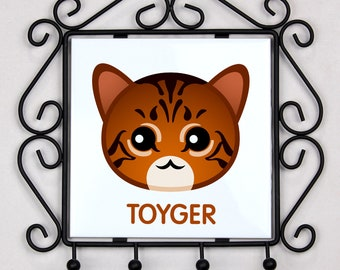 A key rack, hangers with Toyger cat. A new collection with the cute Art-dog cat
