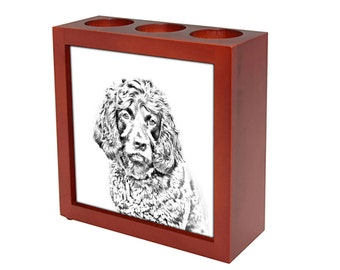 Boykin Spaniel - Wooden stand for candles/pens with the image of a dog ! NEW COLLECTION!