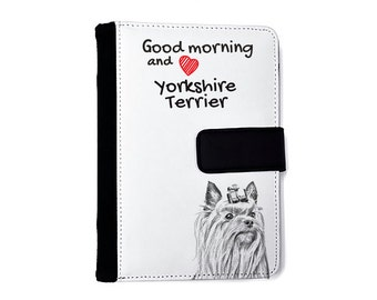 Yorkshire Terrier- Notebook with the calendar of eco-leather with an image of a dog! NEW COLLECTION!