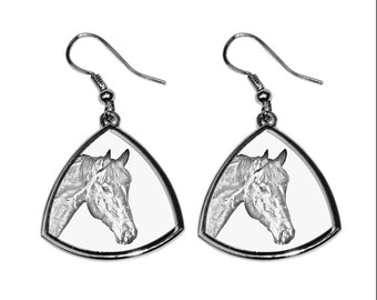 Bay, collection of earrings with images of purebred horses, unique gift. Collection!