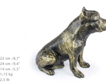 American Staffordshire Terrier, dog sitting statue, limited edition, ArtDog