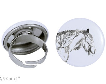 Ring with a horse - Shire horse