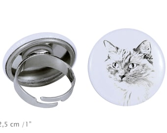 Ring with a cat - Ragdoll