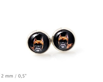 Boxer. Pet in your ear. Earrings. Photojewelry. Handmade.