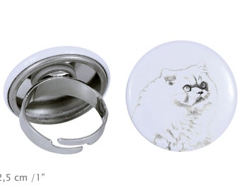 Ring with a cat -Himalayan cat