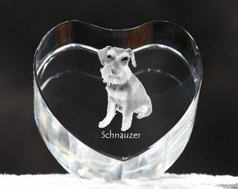 Schnauzer, crystal heart with dog, souvenir, decoration, limited edition, Collection