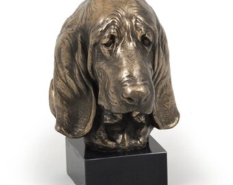 Basset Hound, dog marble statue, limited edition, ArtDog. Made of cold cast bronze. Perfect gift. Limited edition