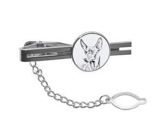 NEW! Cirneco dell'Etna - Tie pin with an image of a dog.