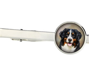 Bernese Mountain Dog. Tie clip for dog lovers. Photo jewellery. Men's jewellery. Handmade