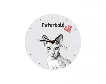 Peterbald, Free standing MDF floor clock with an image of a cat.