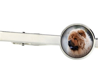 Chow chow. Tie clip for dog lovers. Photo jewellery. Men's jewellery. Handmade